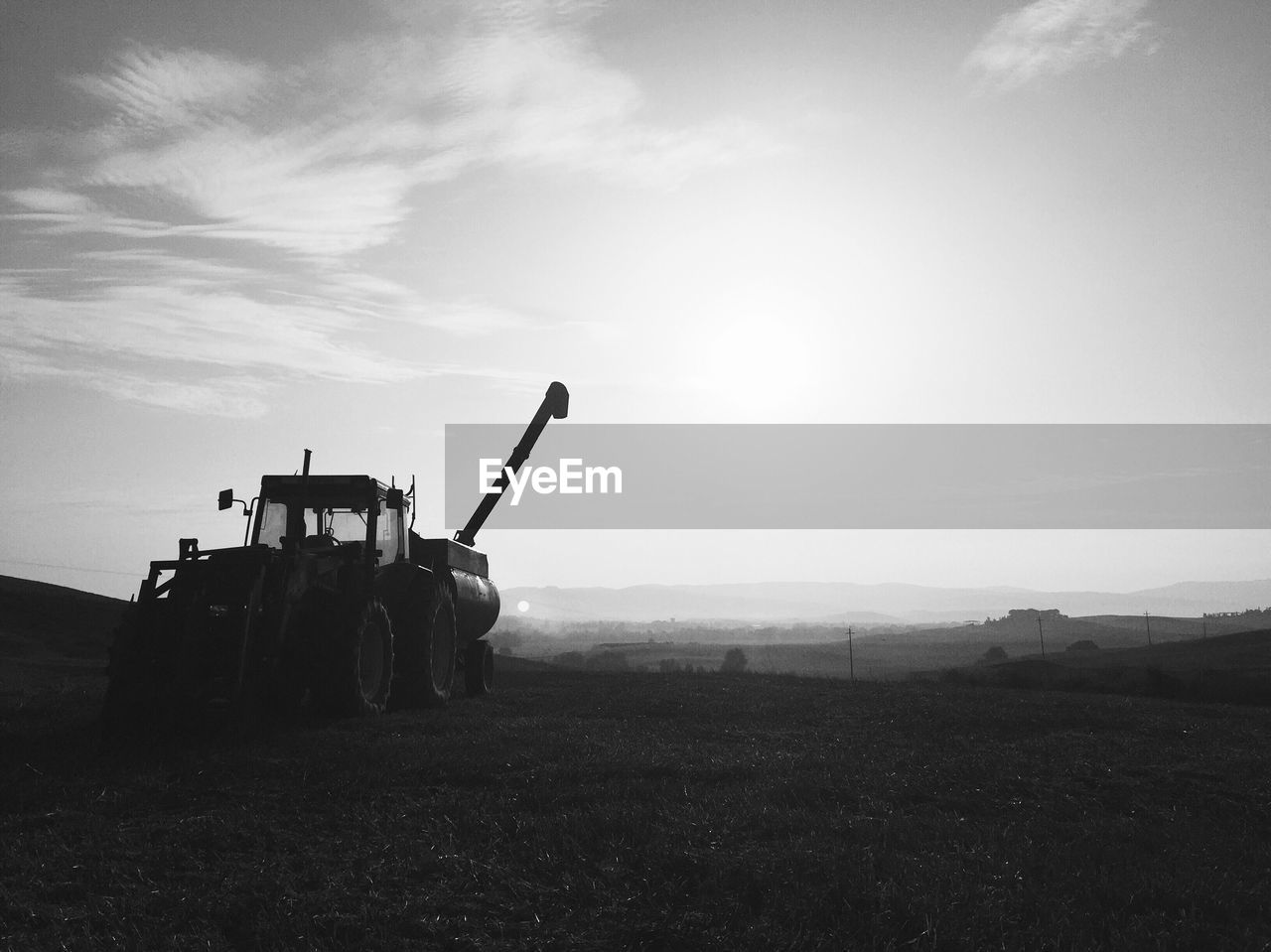 Agricultural Machinery On Landscape