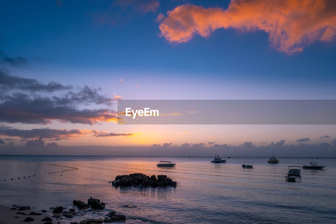 sky, water, sunset, sea, scenics - nature, cloud - sky, beauty in nature, horizon over water, tranquil scene, tranquility, horizon, idyllic, nature, orange color, no people, beach, non-urban scene, waterfront, land, outdoors