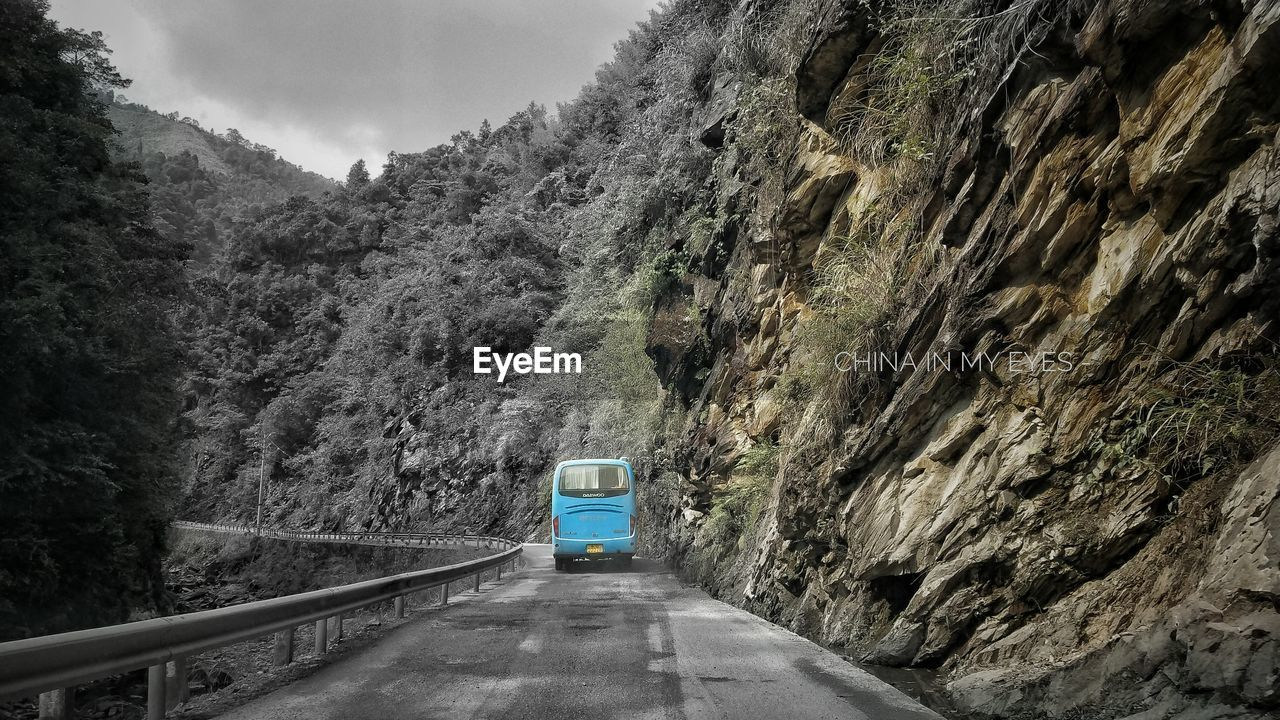 the way forward, transportation, mountain, road, day, no people, outdoors, nature, tree, sky, beauty in nature