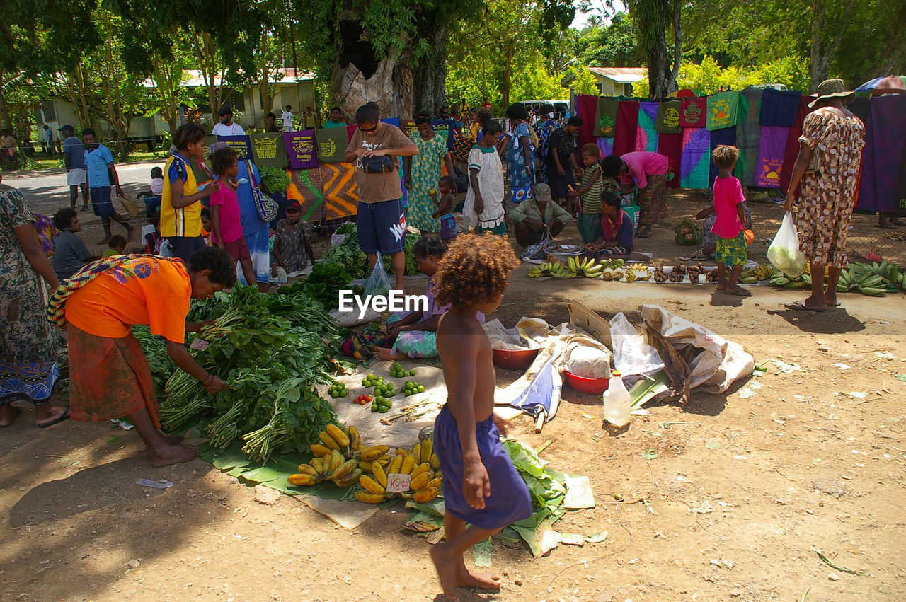 People at vegetable market