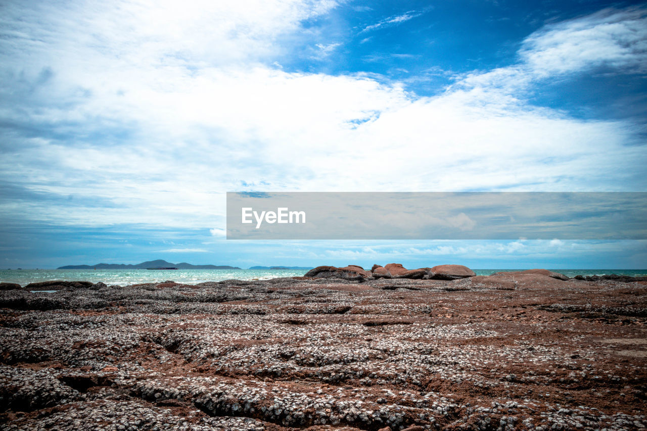 sky, cloud - sky, environment, landscape, tranquil scene, scenics - nature, tranquility, nature, beauty in nature, land, no people, day, non-urban scene, rock, outdoors, mountain, blue, rock - object, horizon, solid, arid climate, climate