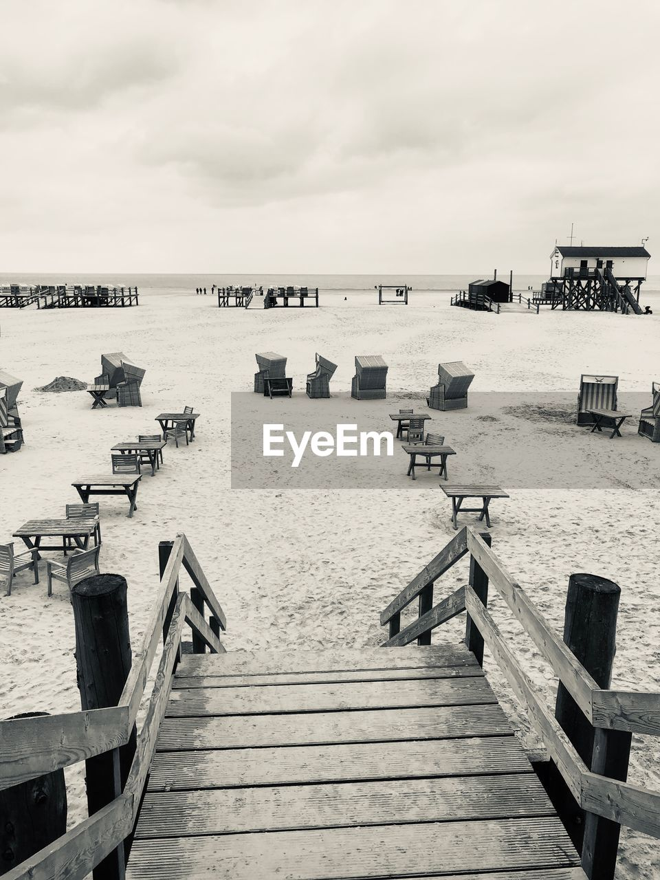 water, sky, sea, cloud - sky, pier, beach, nature, railing, architecture, wood - material, land, built structure, beauty in nature, jetty, day, scenics - nature, horizon, no people, the way forward, wood, outdoors, horizon over water, wood paneling