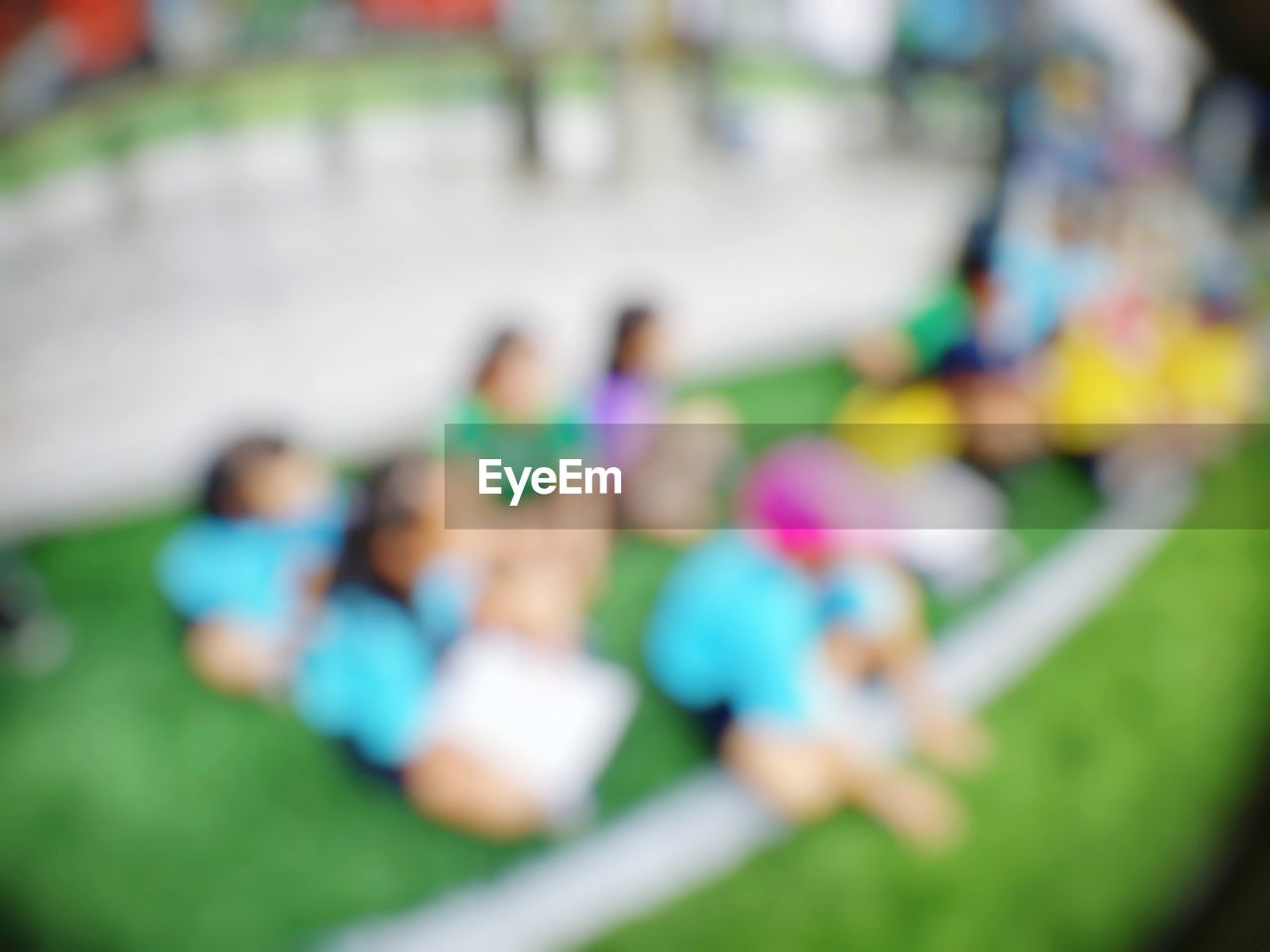 multi colored, selective focus, high angle view, day, leisure activity, close-up, large group of objects, still life, no people, fun, outdoors, focus on foreground, park, playground, lifestyles, park - man made space, relaxation