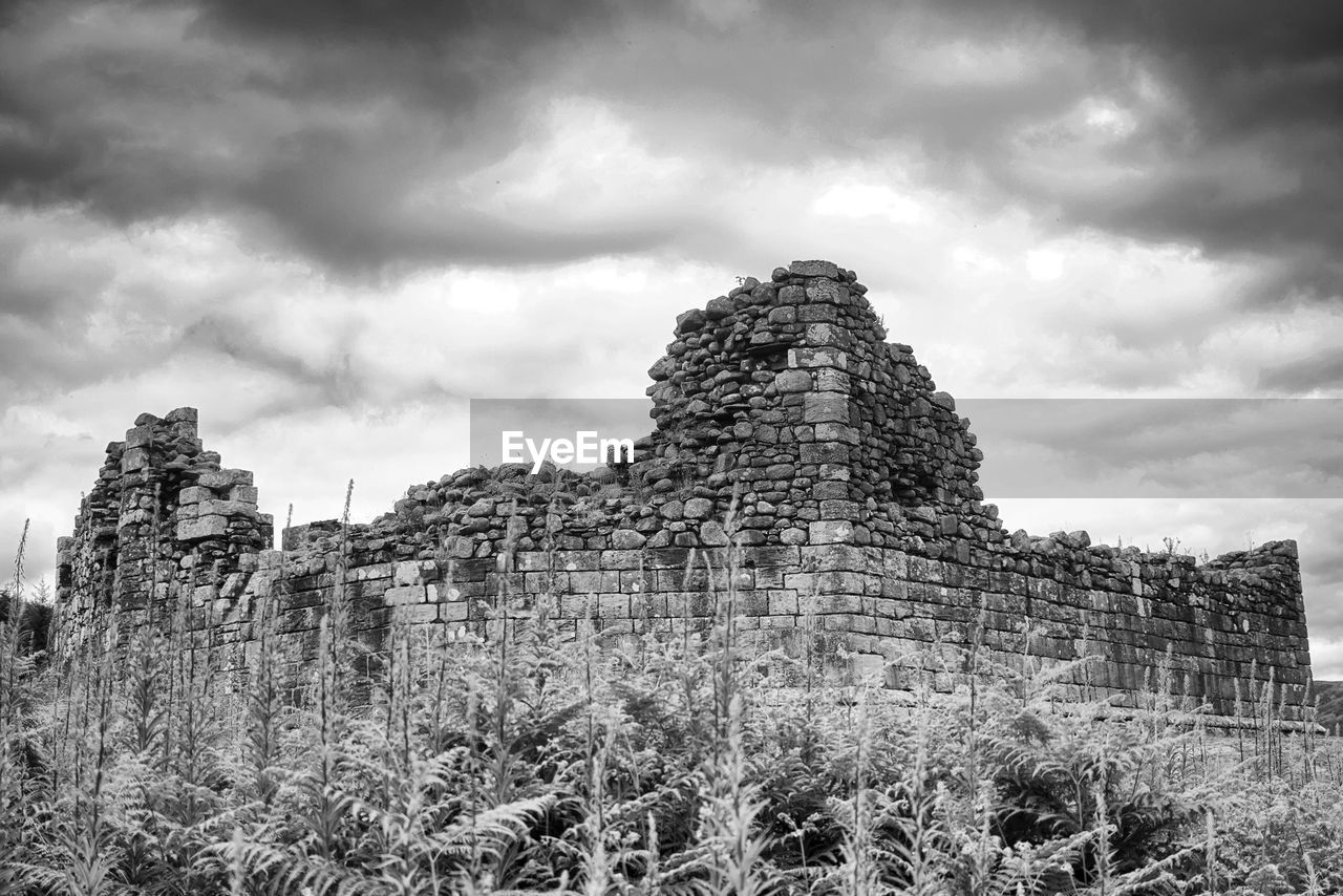 sky, architecture, history, cloud - sky, the past, built structure, nature, low angle view, land, old ruin, ancient, day, old, travel, no people, building exterior, plant, travel destinations, building, solid, outdoors, ancient civilization, ruined, archaeology
