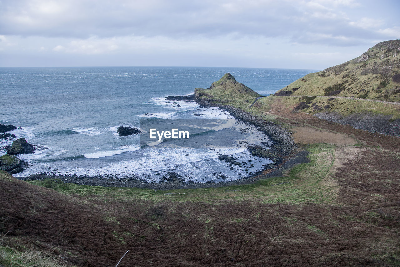sea, water, sky, scenics - nature, land, beauty in nature, cloud - sky, horizon, horizon over water, tranquil scene, beach, tranquility, nature, day, no people, non-urban scene, idyllic, rock, outdoors, rocky coastline