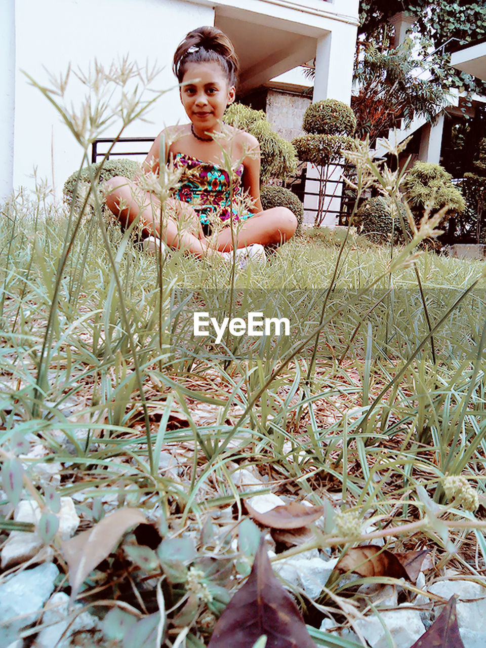 growth, real people, looking at camera, one person, plant, portrait, nature, outdoors, day, field, flower, young women, lifestyles, young adult, grass, beautiful woman, tree, beauty in nature, freshness, people