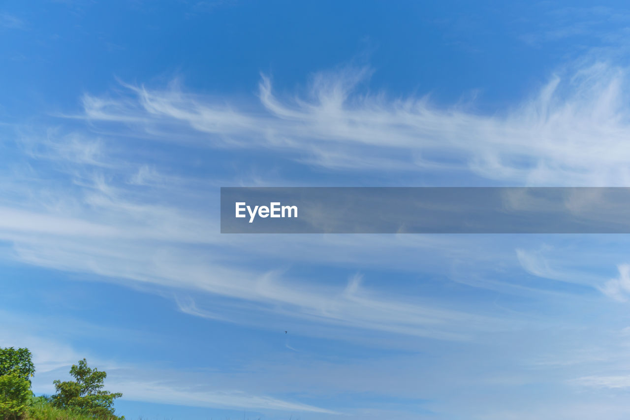 sky, cloud - sky, low angle view, blue, nature, beauty in nature, day, tranquil scene, tranquility, no people, outdoors, scenics