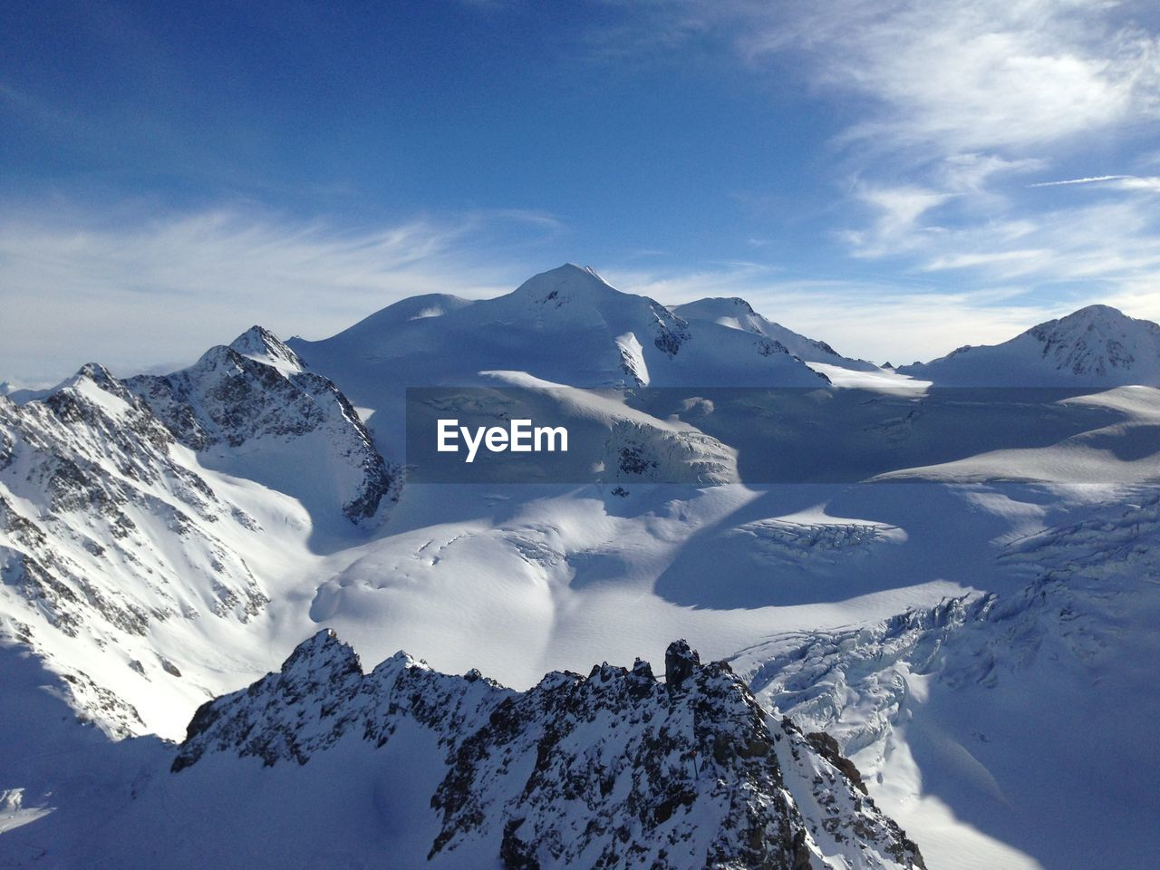 winter, snow, cold temperature, mountain, beauty in nature, scenics - nature, sky, snowcapped mountain, tranquil scene, tranquility, mountain range, environment, cloud - sky, white color, day, non-urban scene, no people, nature, landscape, mountain peak, mountain ridge