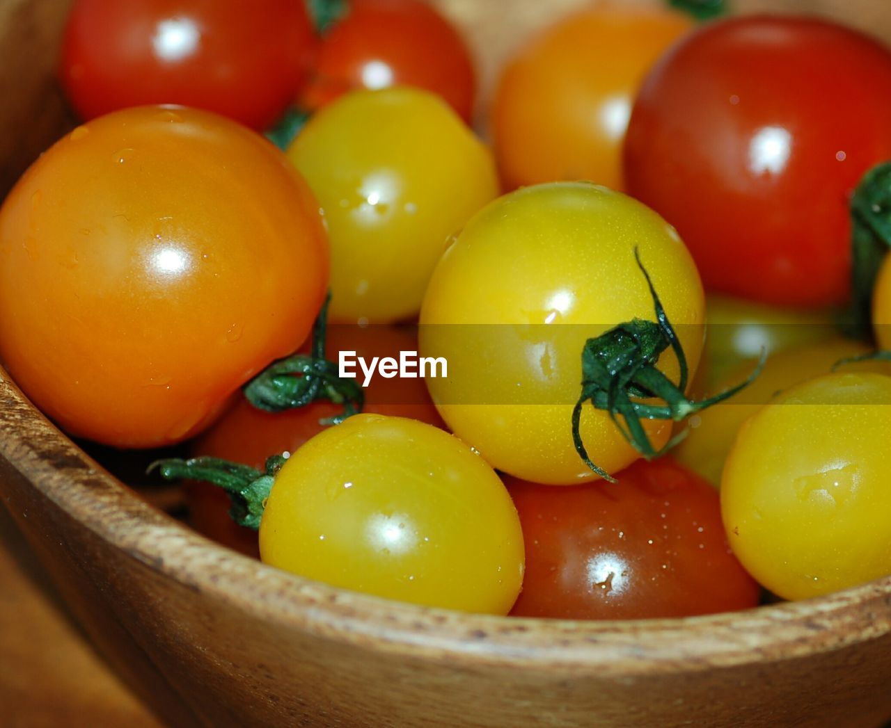 Close-Up Of Cherry Tomatoes In Bowl