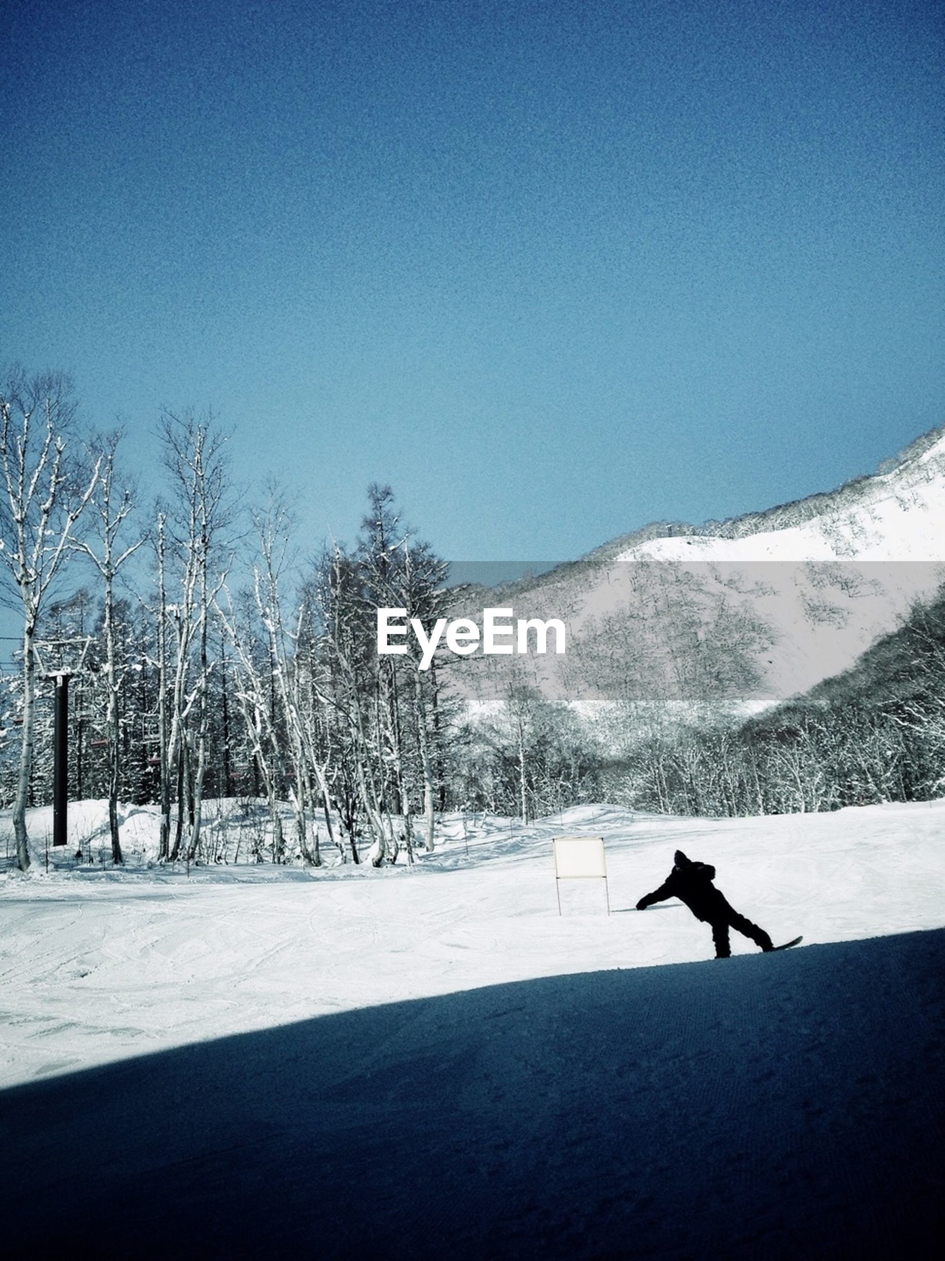 Man skiing in mountains