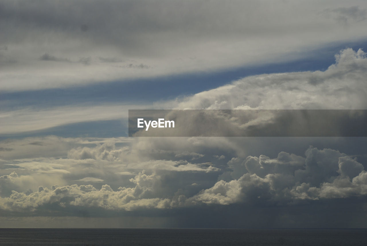 cloud - sky, sky, beauty in nature, nature, tranquility, scenics, weather, tranquil scene, sea, idyllic, no people, water, day, outdoors, storm cloud, horizon over water, thunderstorm