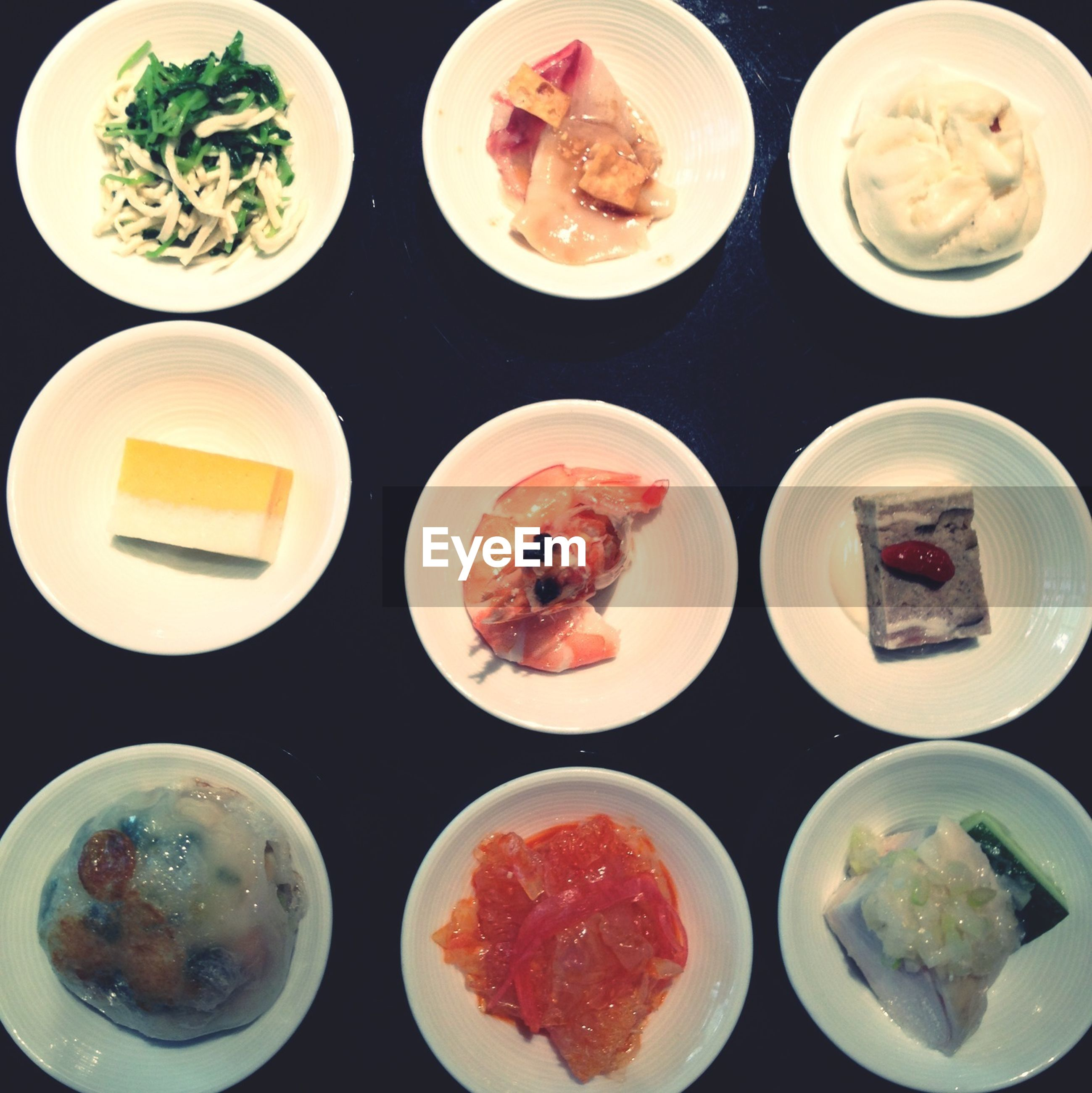 food and drink, food, freshness, indoors, ready-to-eat, plate, still life, healthy eating, high angle view, directly above, meal, serving size, indulgence, table, variation, bowl, vegetable, close-up, served, salad