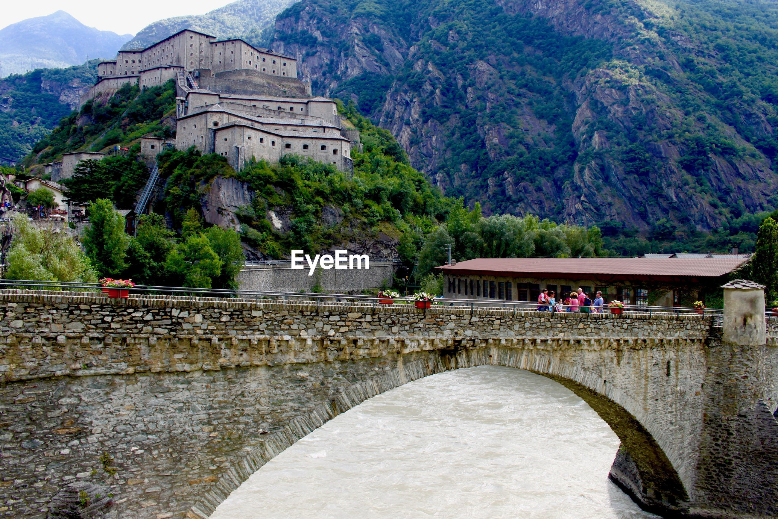 VIEW OF BRIDGE OVER BUILDINGS