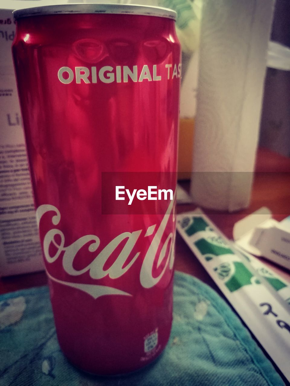 text, western script, communication, indoors, no people, close-up, red, day, drink