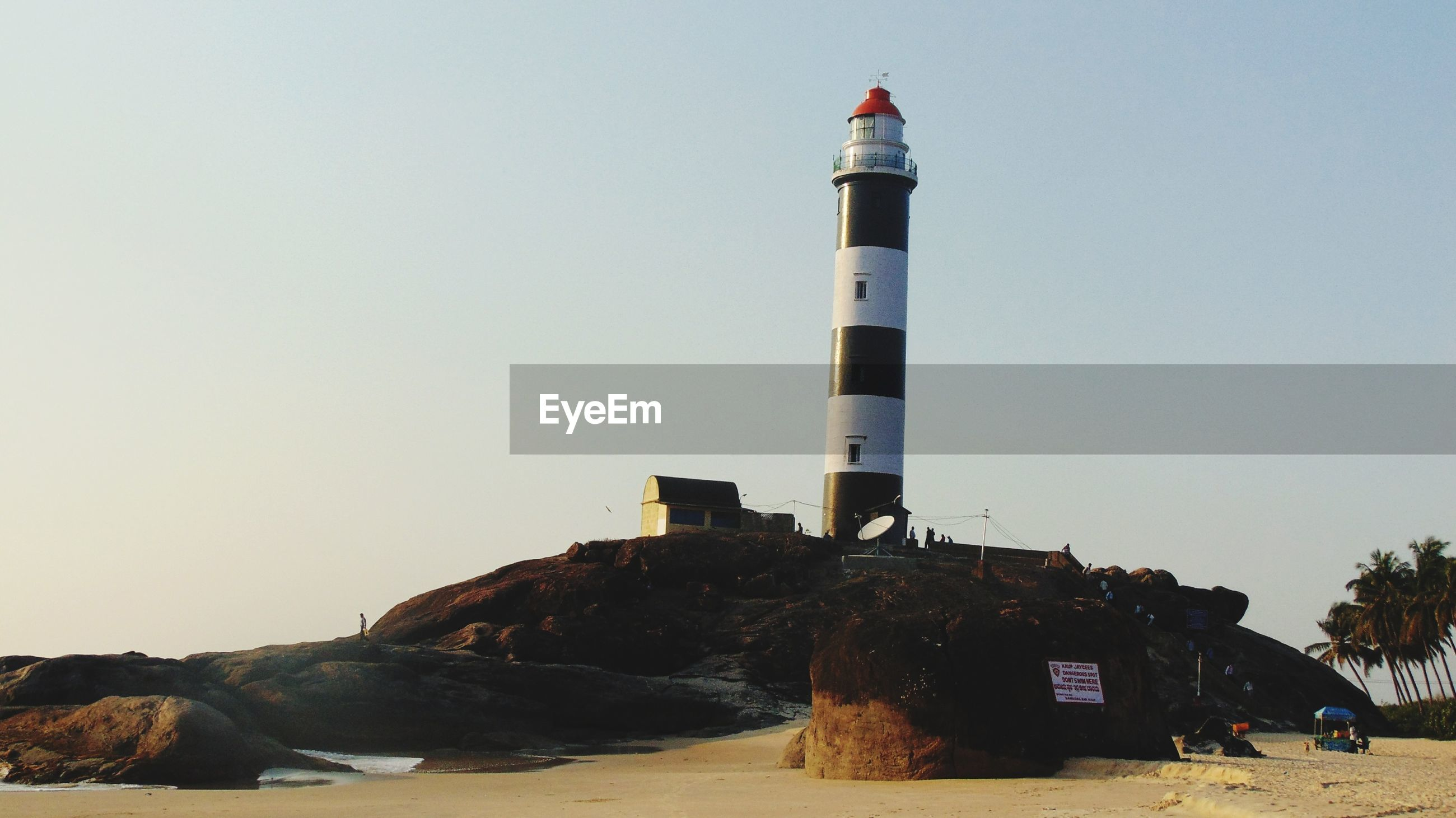 Lighthouse on rock formation