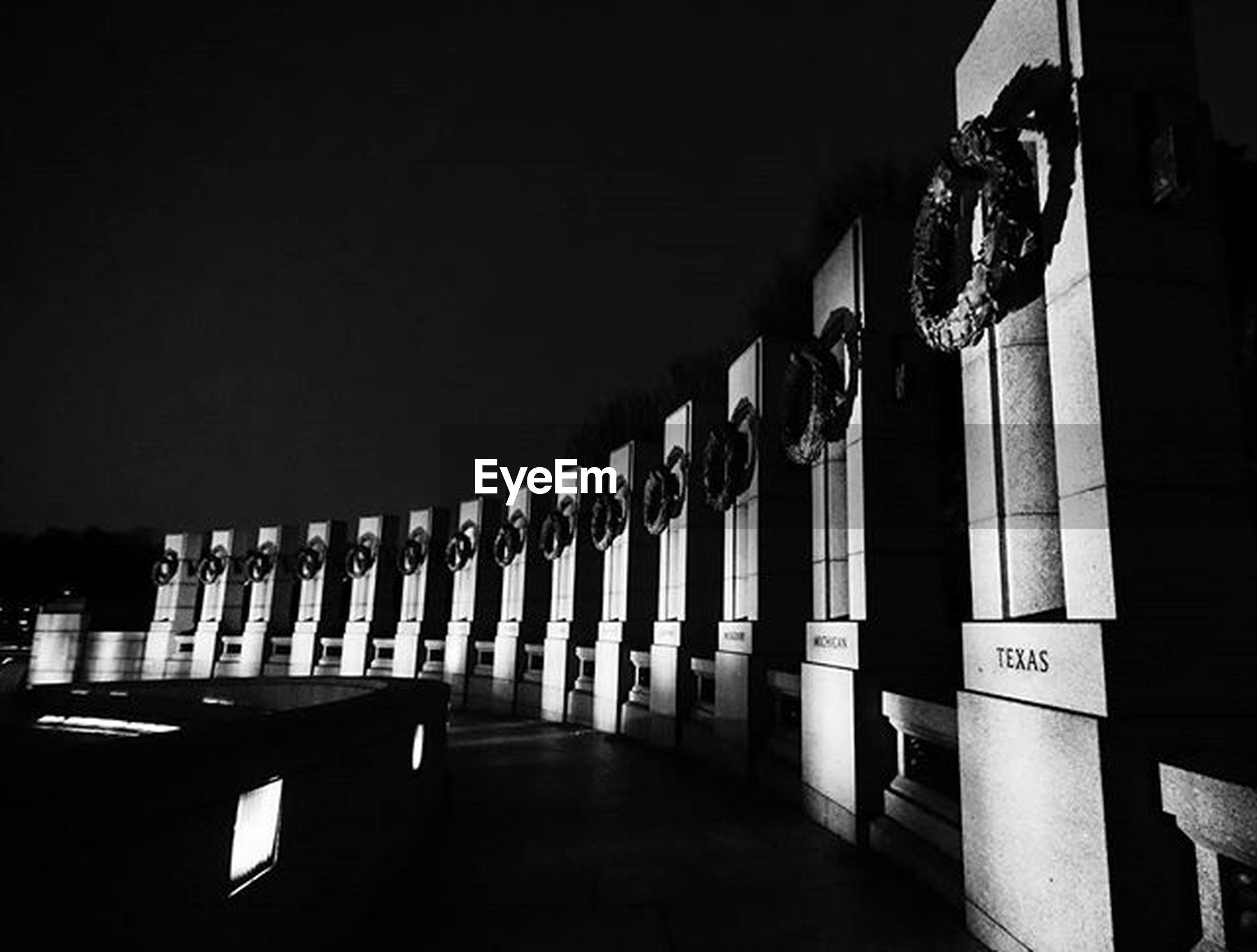 VIEW OF ILLUMINATED LIGHTS