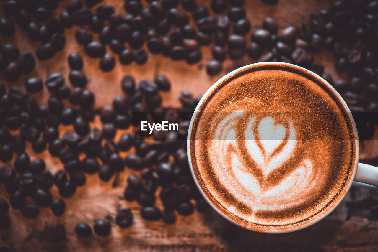 coffee, coffee - drink, drink, food and drink, refreshment, frothy drink, still life, coffee cup, cup, mug, hot drink, cappuccino, close-up, froth art, table, freshness, no people, high angle view, creativity, indoors, crockery, latte, non-alcoholic beverage, froth