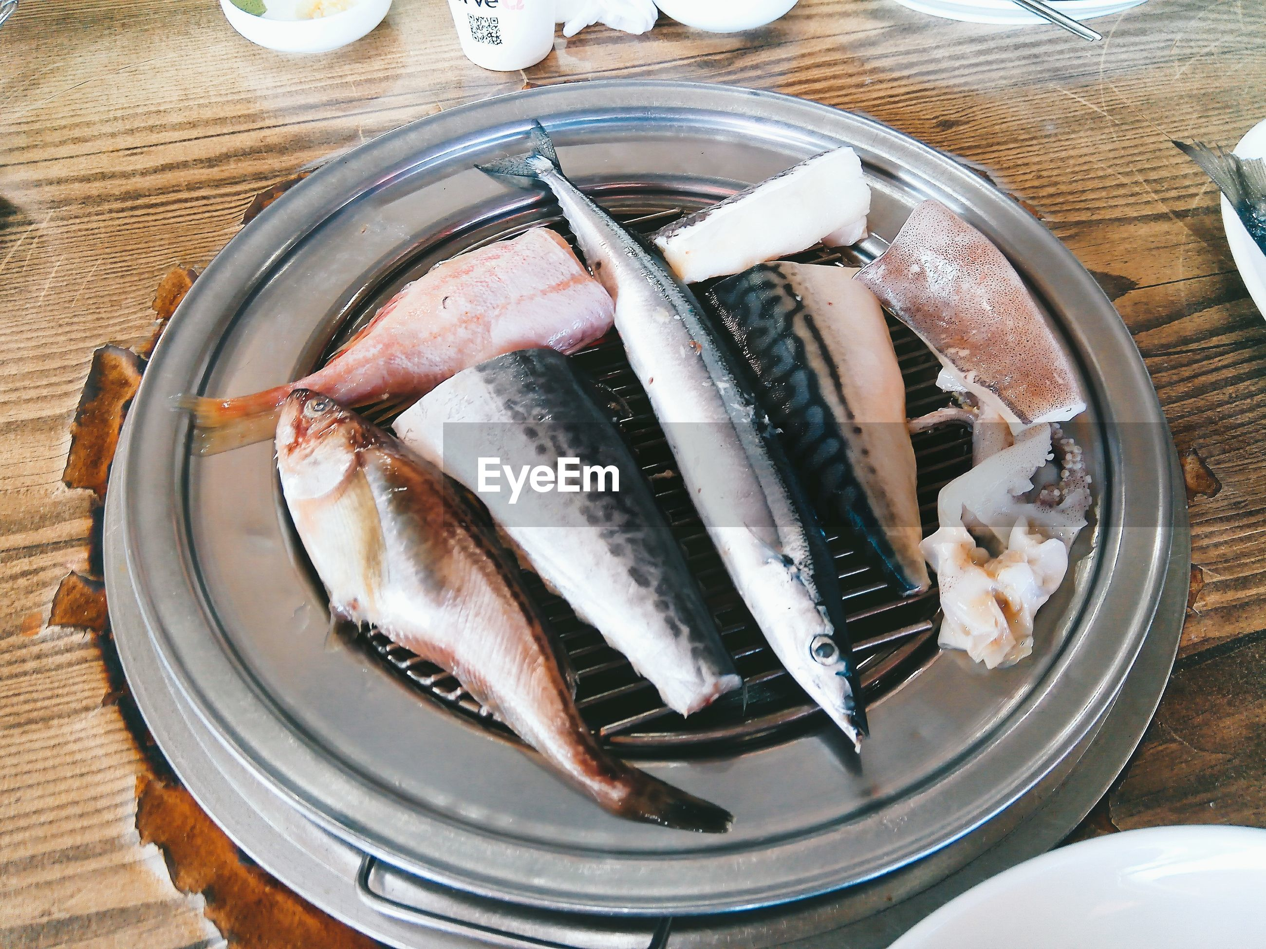 seafood, fish, food and drink, food, freshness, healthy eating, raw food, directly above, plate, no people, bowl, indoors, day, close-up