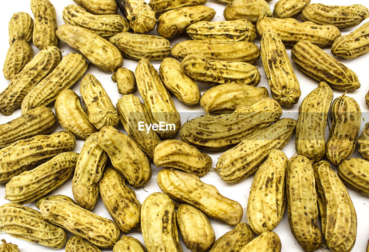 Full frame shot of peanuts on table