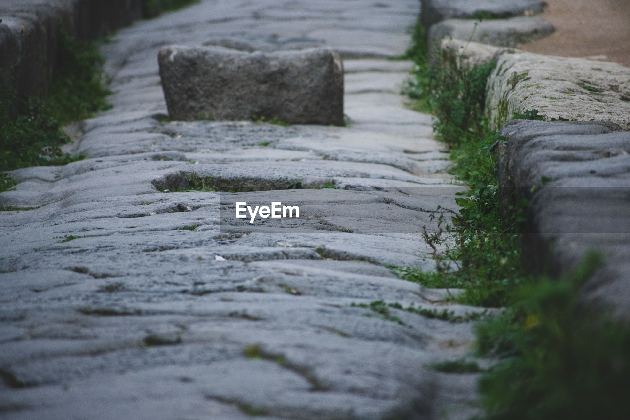 SURFACE LEVEL OF STONE FOOTPATH