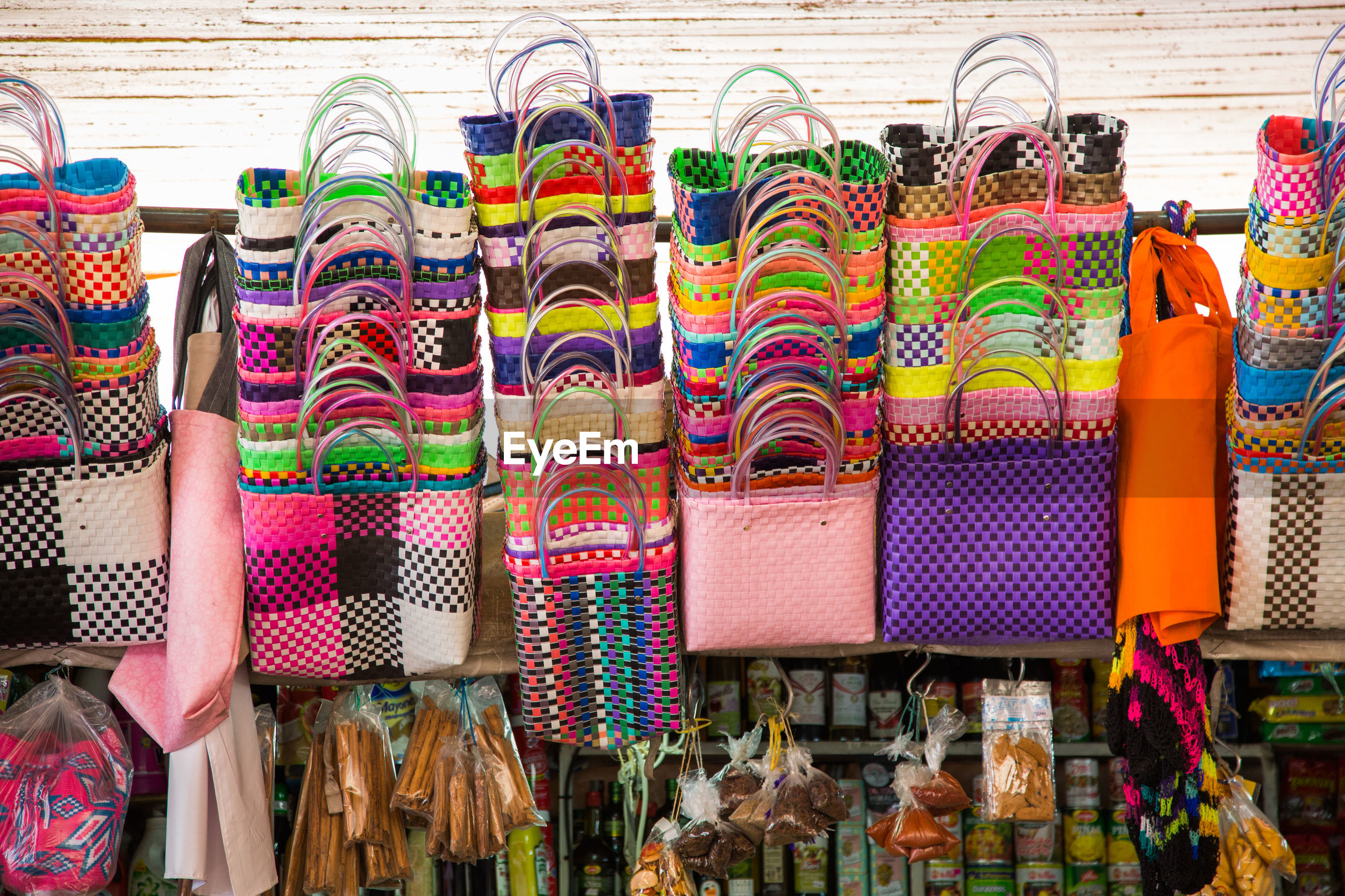 VARIOUS DISPLAYED FOR SALE AT MARKET