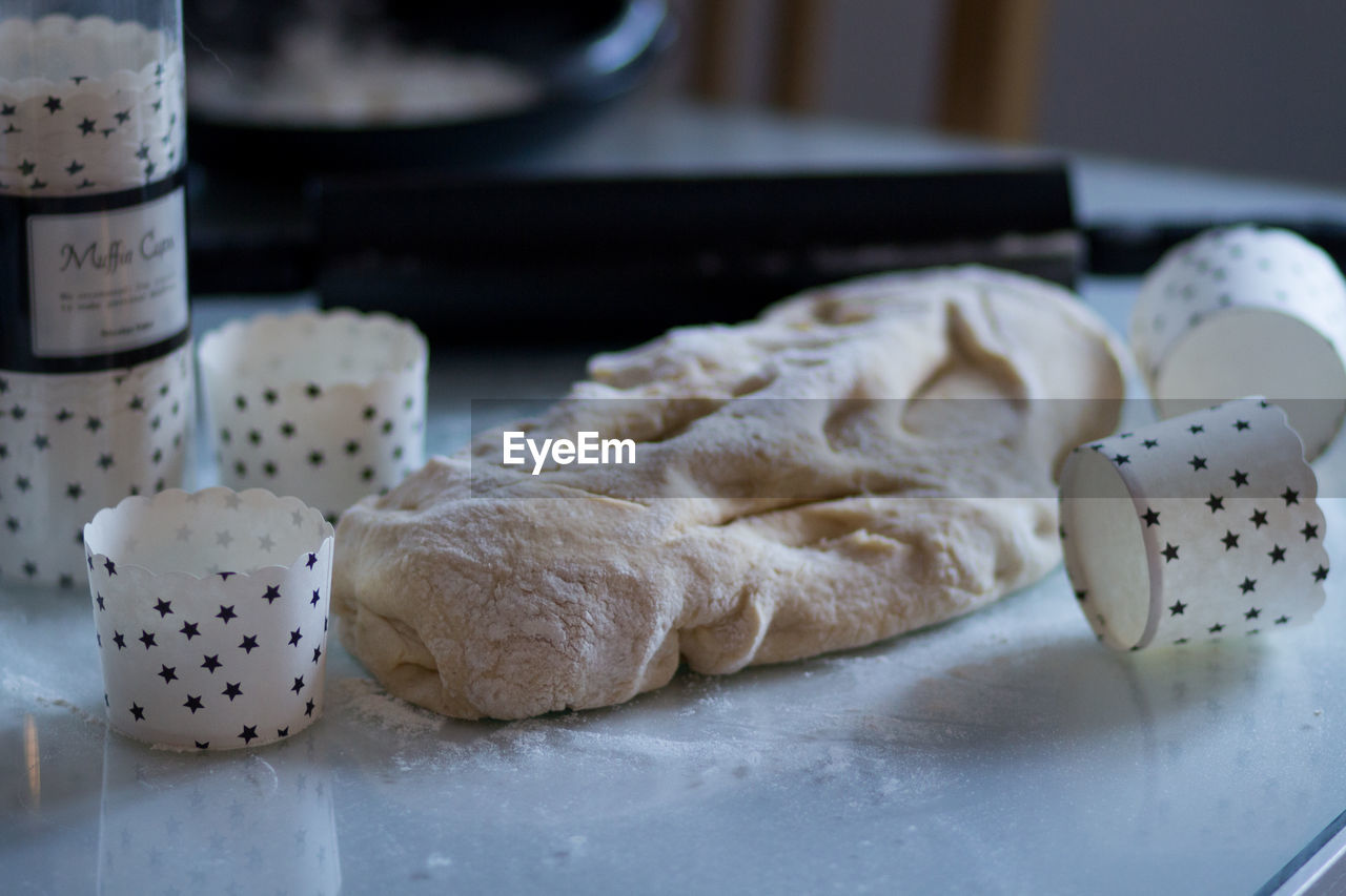 food, food and drink, still life, indoors, freshness, table, close-up, healthy eating, wellbeing, no people, focus on foreground, preparation, selective focus, bread, dough, asian food, high angle view, ready-to-eat, preparing food, homemade, temptation, chinese food, tray