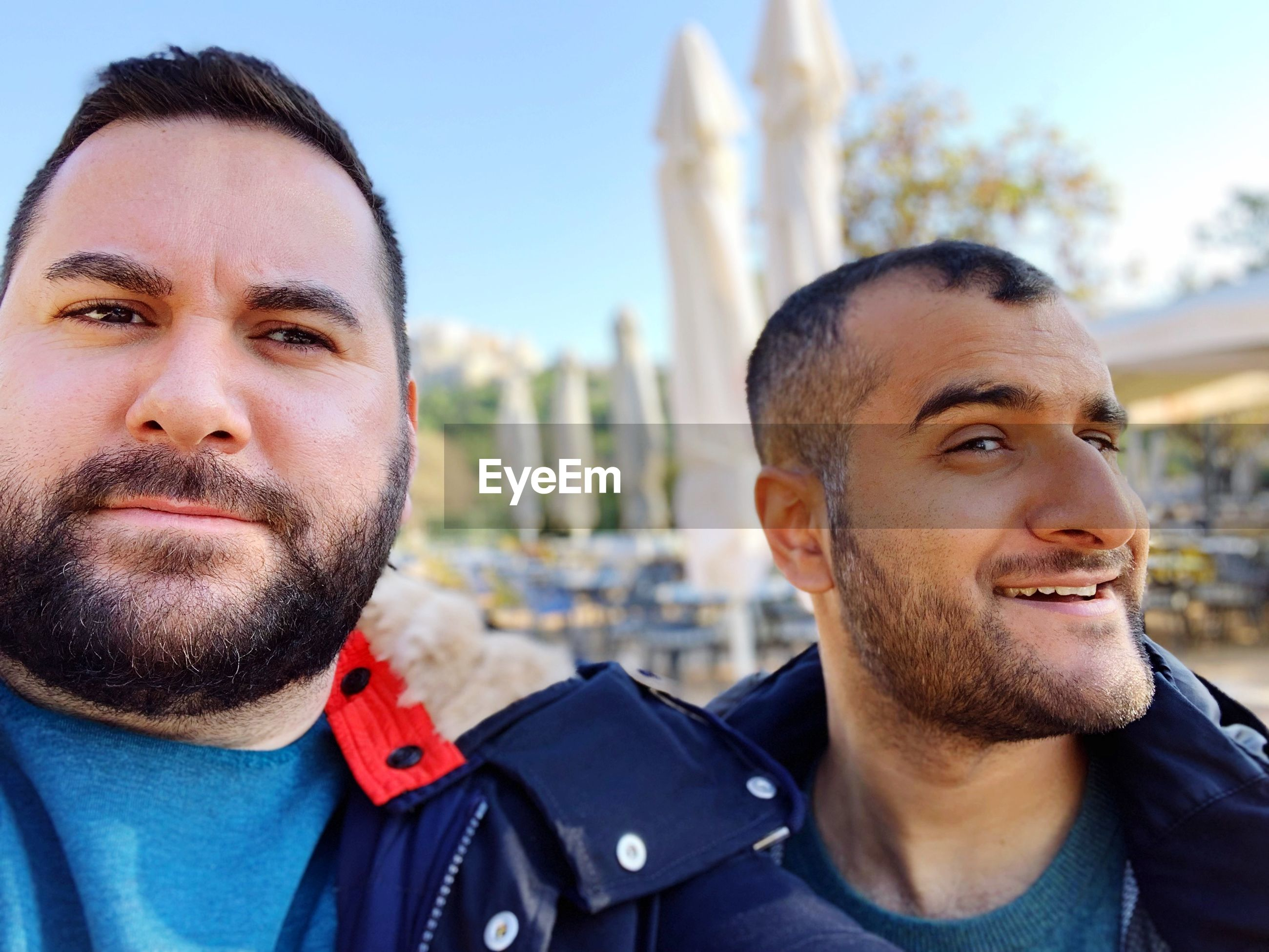 Portrait of male friends