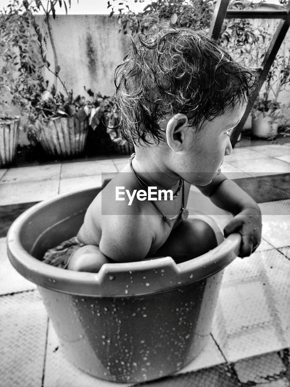 Boy In Tub