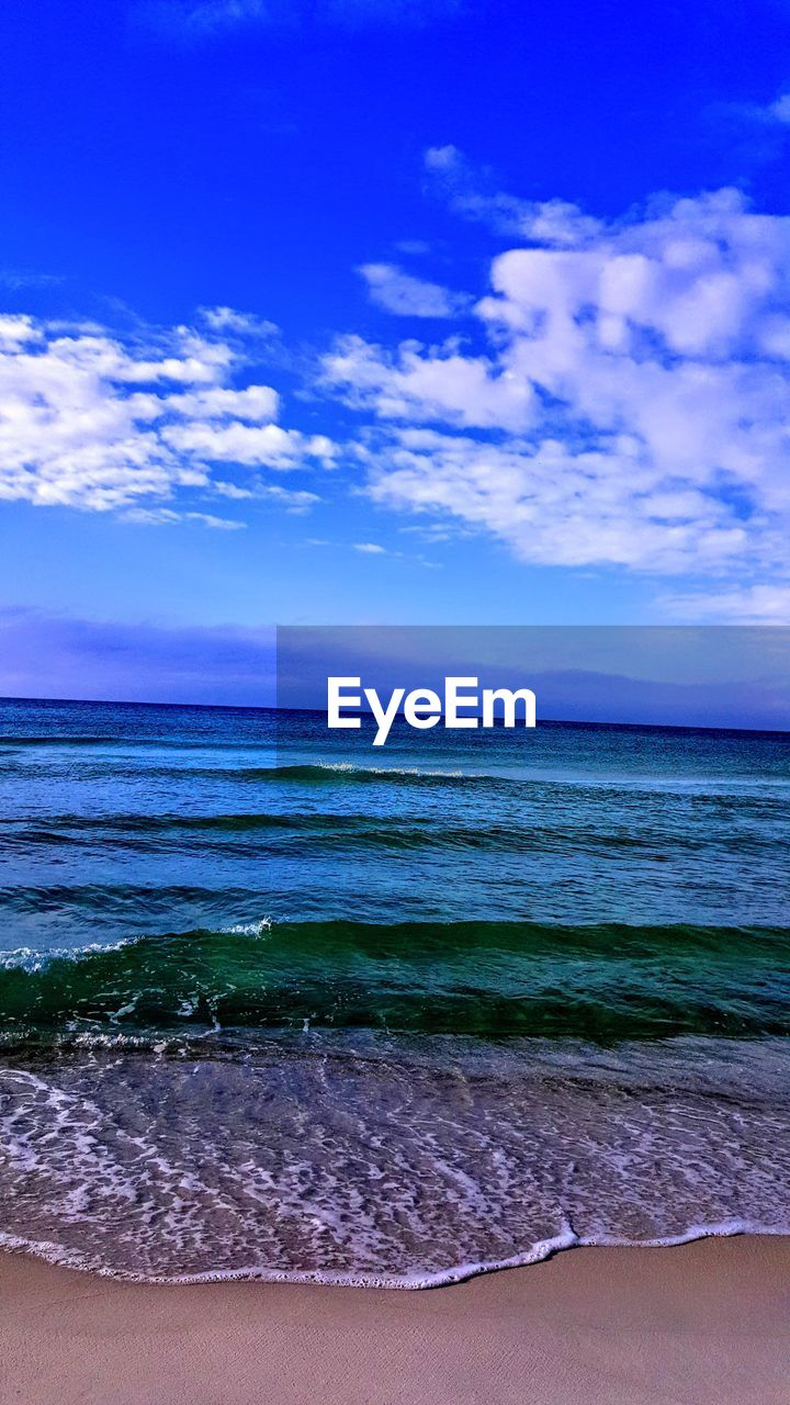 sea, sky, water, land, beach, horizon over water, horizon, scenics - nature, beauty in nature, cloud - sky, tranquil scene, blue, tranquility, sand, nature, idyllic, no people, wave, outdoors