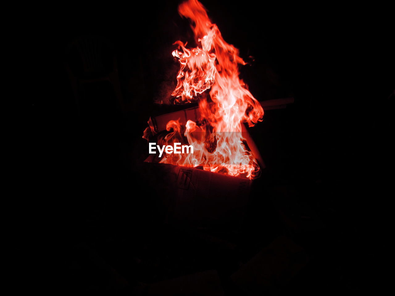 night, burning, glowing, heat - temperature, flame, no people, bonfire, close-up, outdoors