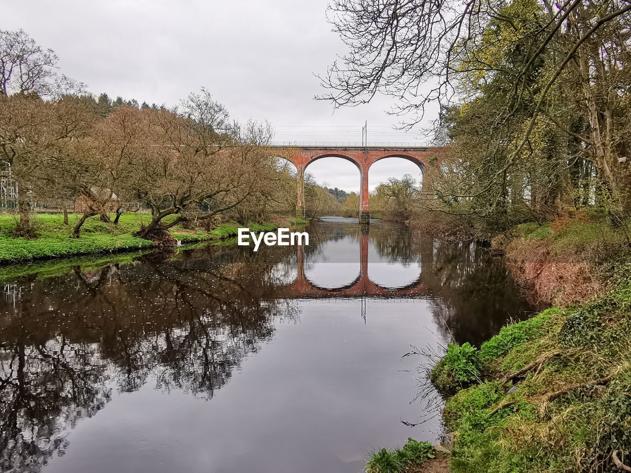 reflection, water, tree, bridge, plant, bridge - man made structure, connection, sky, nature, no people, arch, waterfront, tranquility, built structure, architecture, beauty in nature, arch bridge, day, river, outdoors, arched