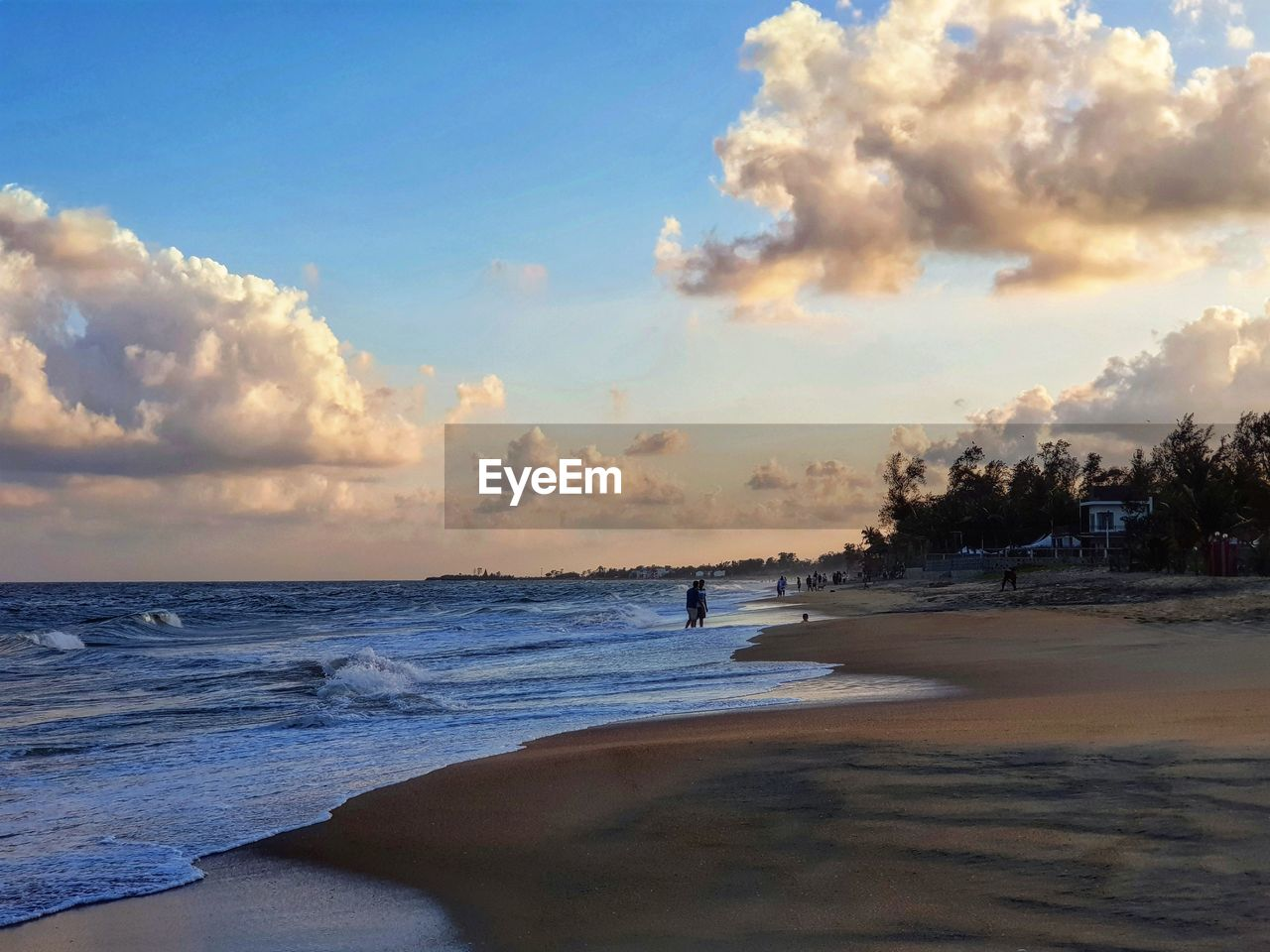 sea, beach, sky, water, nature, cloud - sky, scenics, beauty in nature, horizon over water, sunset, tranquility, tranquil scene, outdoors, wave, sand, no people, travel destinations, day