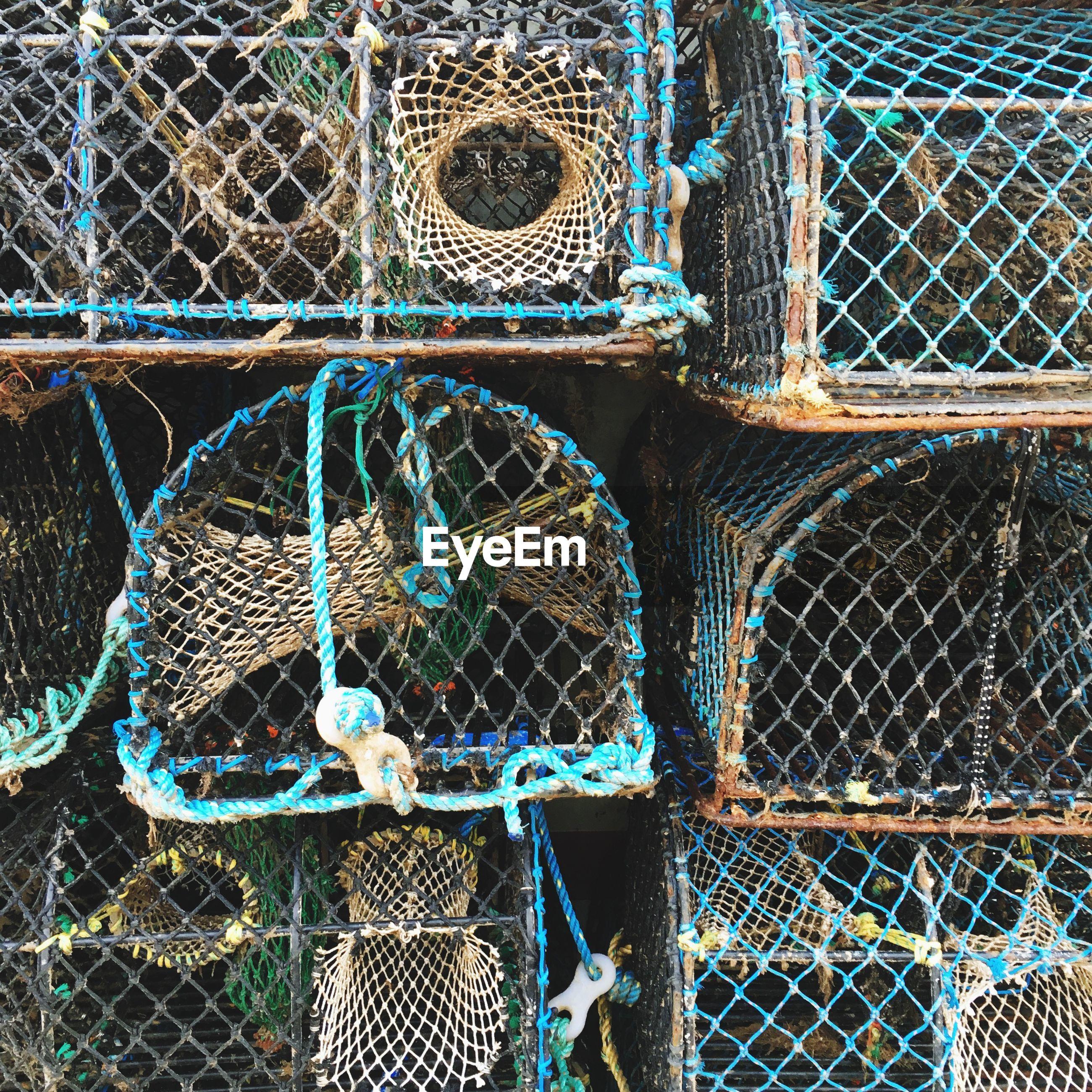 Full frame shot of fishing nets
