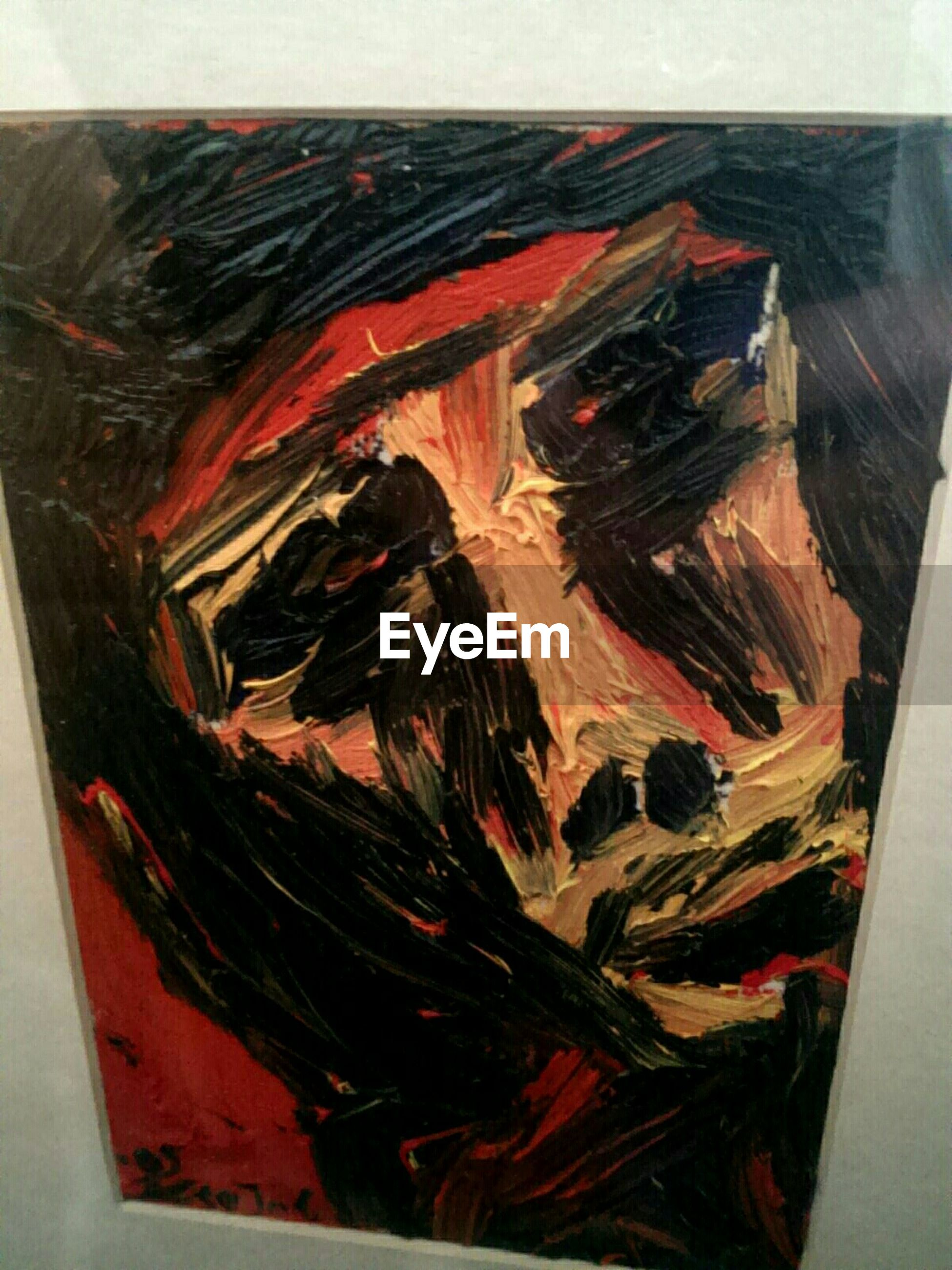 Close-up of modern art painting