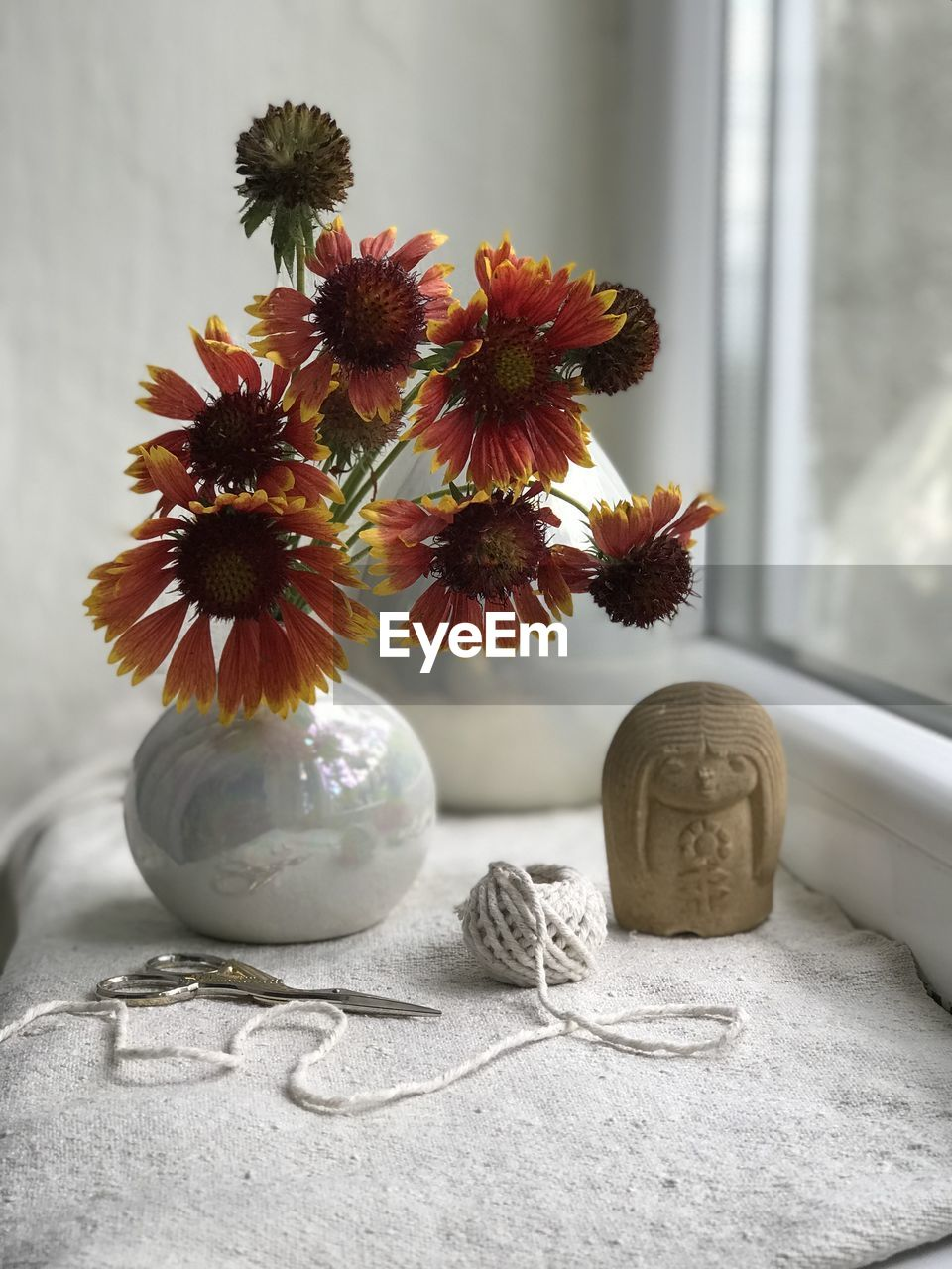 indoors, vase, table, flower, no people, flowering plant, plant, still life, nature, close-up, vulnerability, fragility, decoration, freshness, home interior, food, focus on foreground, food and drink, healthy eating, flower head