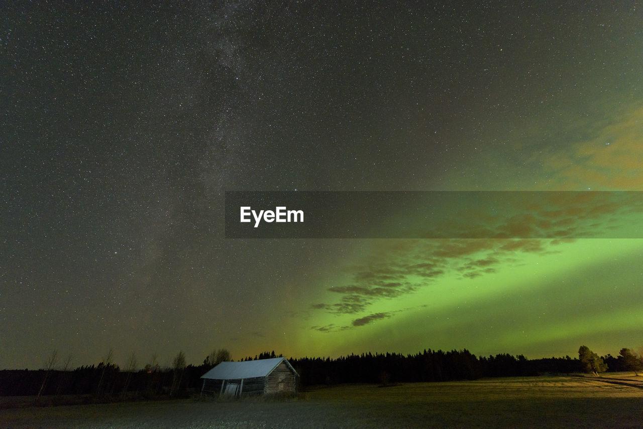 Aurora over night sky