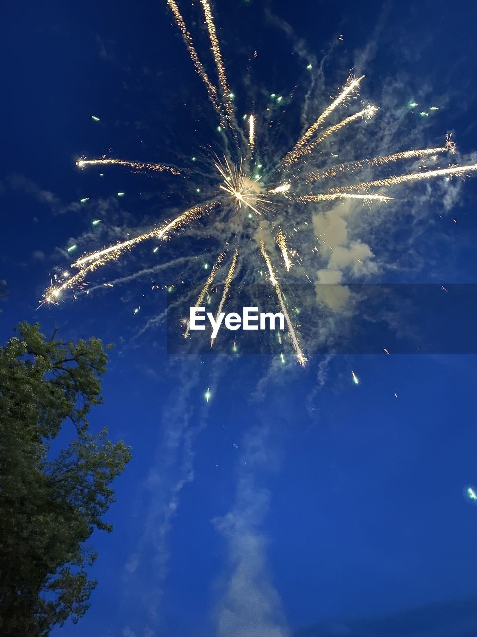 LOW ANGLE VIEW OF FIREWORKS AGAINST SKY