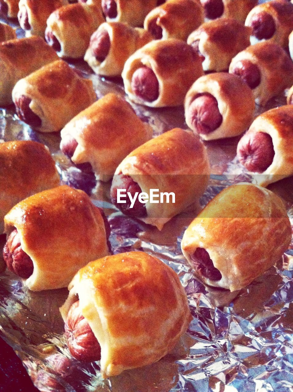 View Of Sausages In Baked Pastry