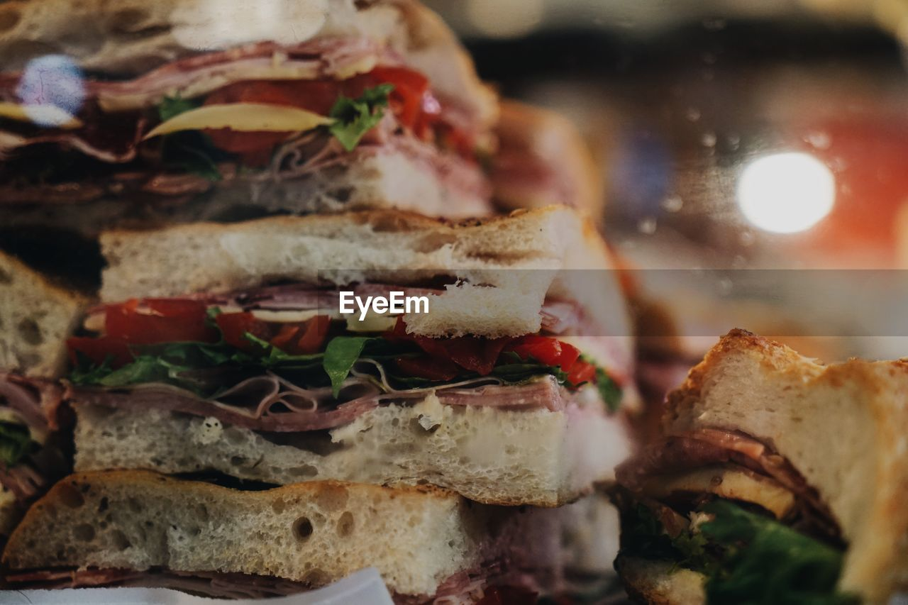 food, food and drink, sandwich, close-up, ready-to-eat, indoors, still life, healthy eating, freshness, bread, no people, wellbeing, selective focus, vegetable, fast food, serving size, indulgence, meat, meal, temptation, snack, vegetarian food