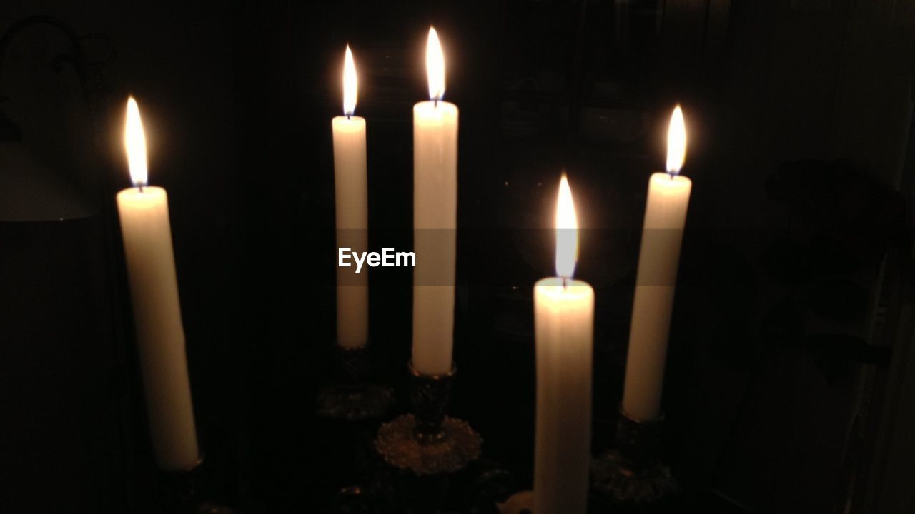 Lit Candles At Home