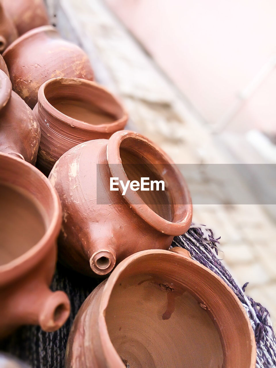 Close-Up Of Earthenware
