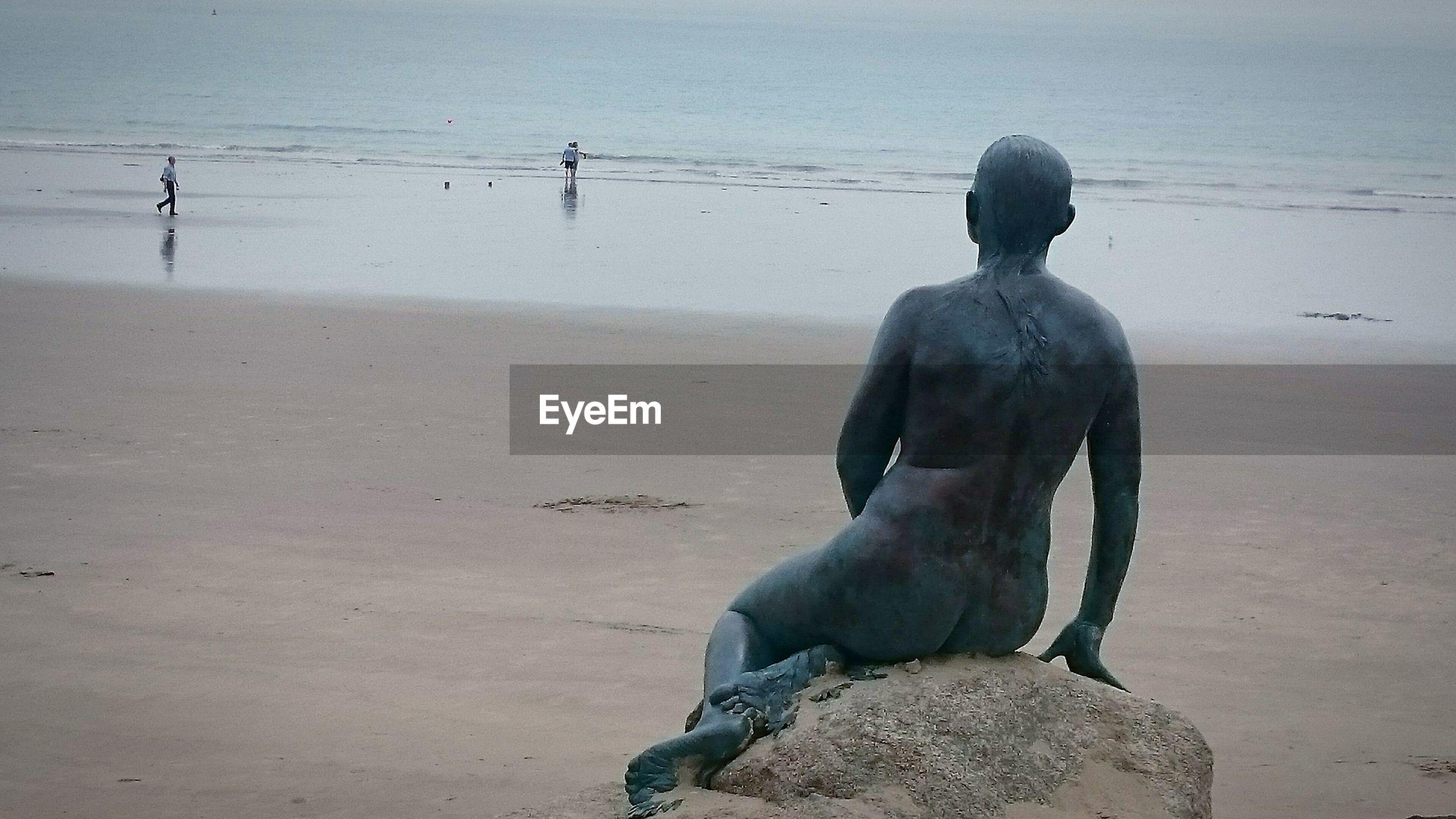 Statue at beach