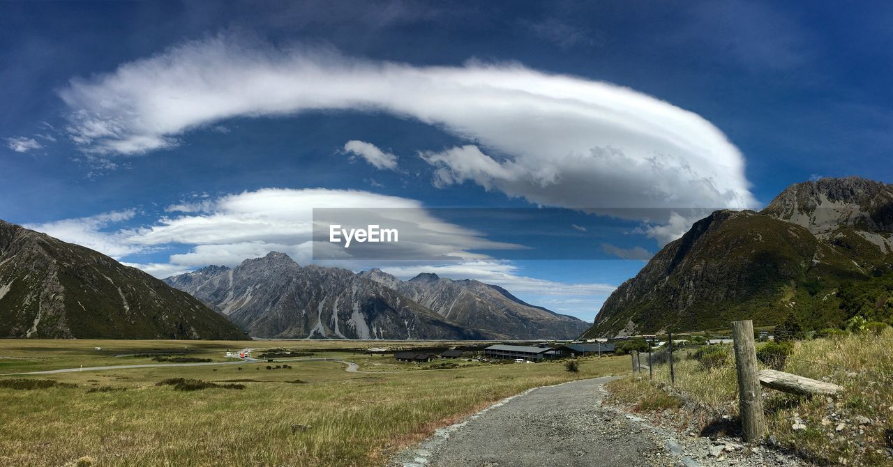 Scenic View Mt Cook National Park Against Sky