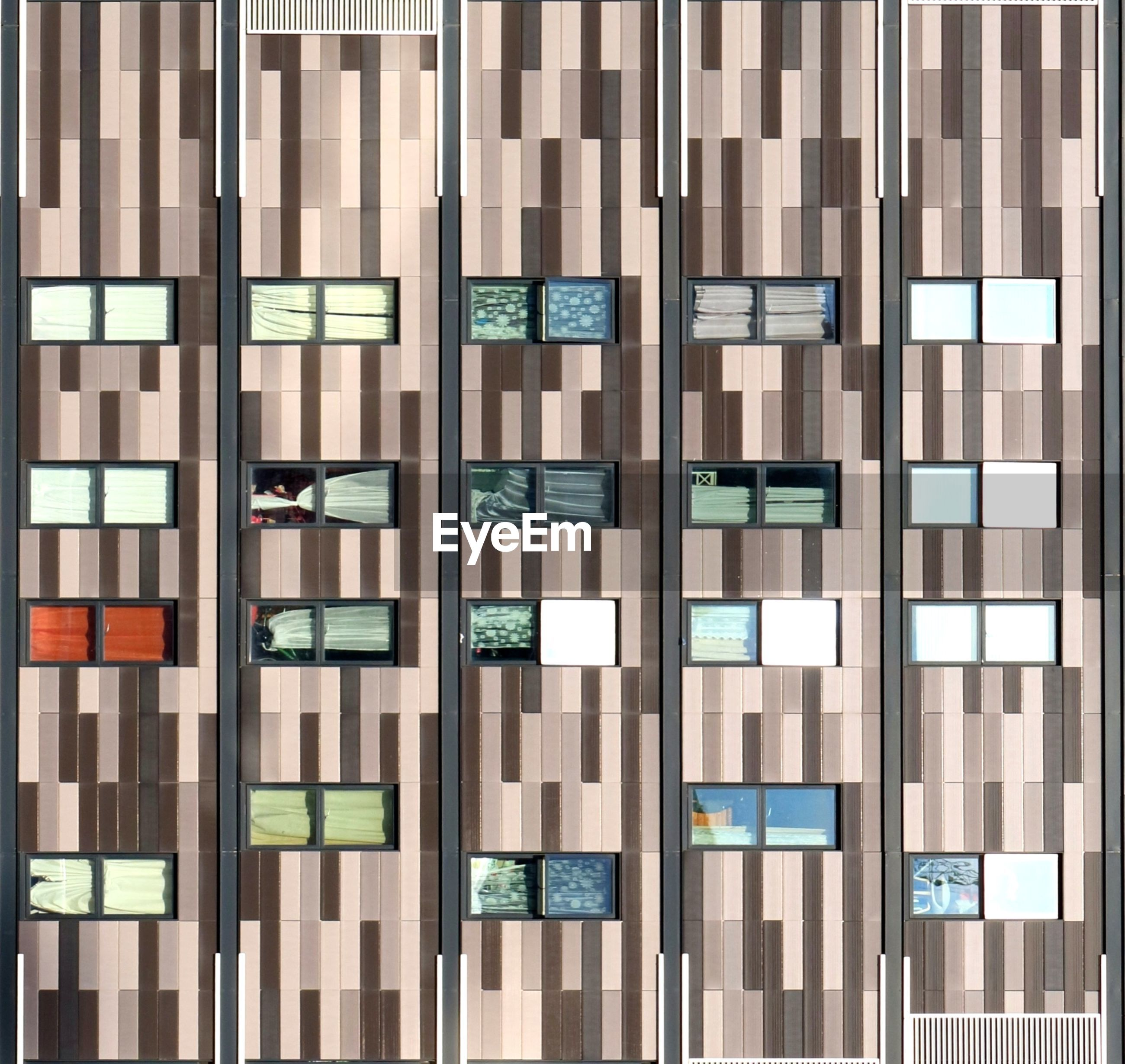 Abstract striped facade
