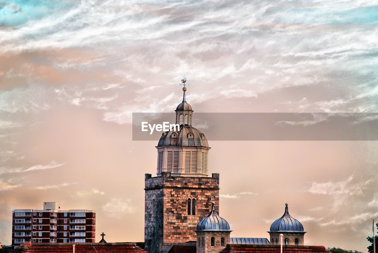 architecture, building exterior, built structure, sky, cloud - sky, religion, dome, place of worship, spirituality, no people, outdoors, sunset, day, city