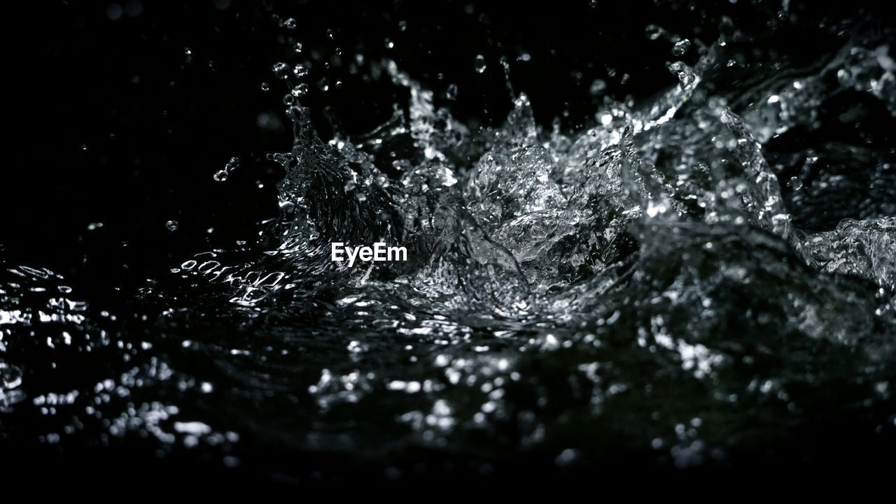 water, motion, splashing, drop, selective focus, close-up, nature, no people, waterfront, purity, outdoors, full frame, black background, rippled, backgrounds, pattern, splashing droplet, falling, day, flowing water, high-speed photography