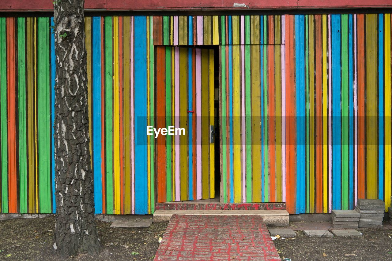 multi colored, day, architecture, no people, built structure, curtain, outdoors