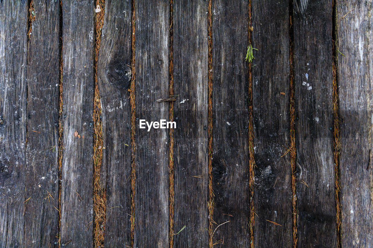 textured, backgrounds, full frame, wood - material, no people, weathered, pattern, close-up, wood, old, rough, plank, wall - building feature, day, outdoors, gray, wood grain, striped, built structure, abstract