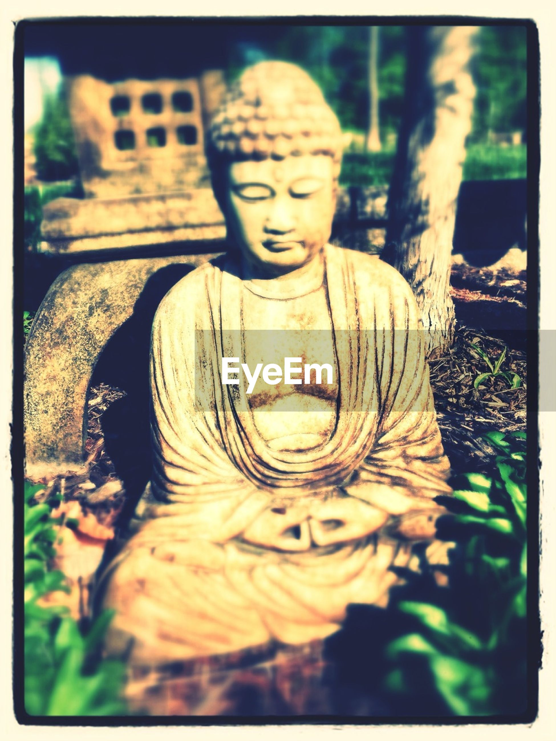 transfer print, statue, human representation, sculpture, art and craft, art, auto post production filter, creativity, focus on foreground, religion, close-up, spirituality, carving - craft product, buddha, day, selective focus, outdoors