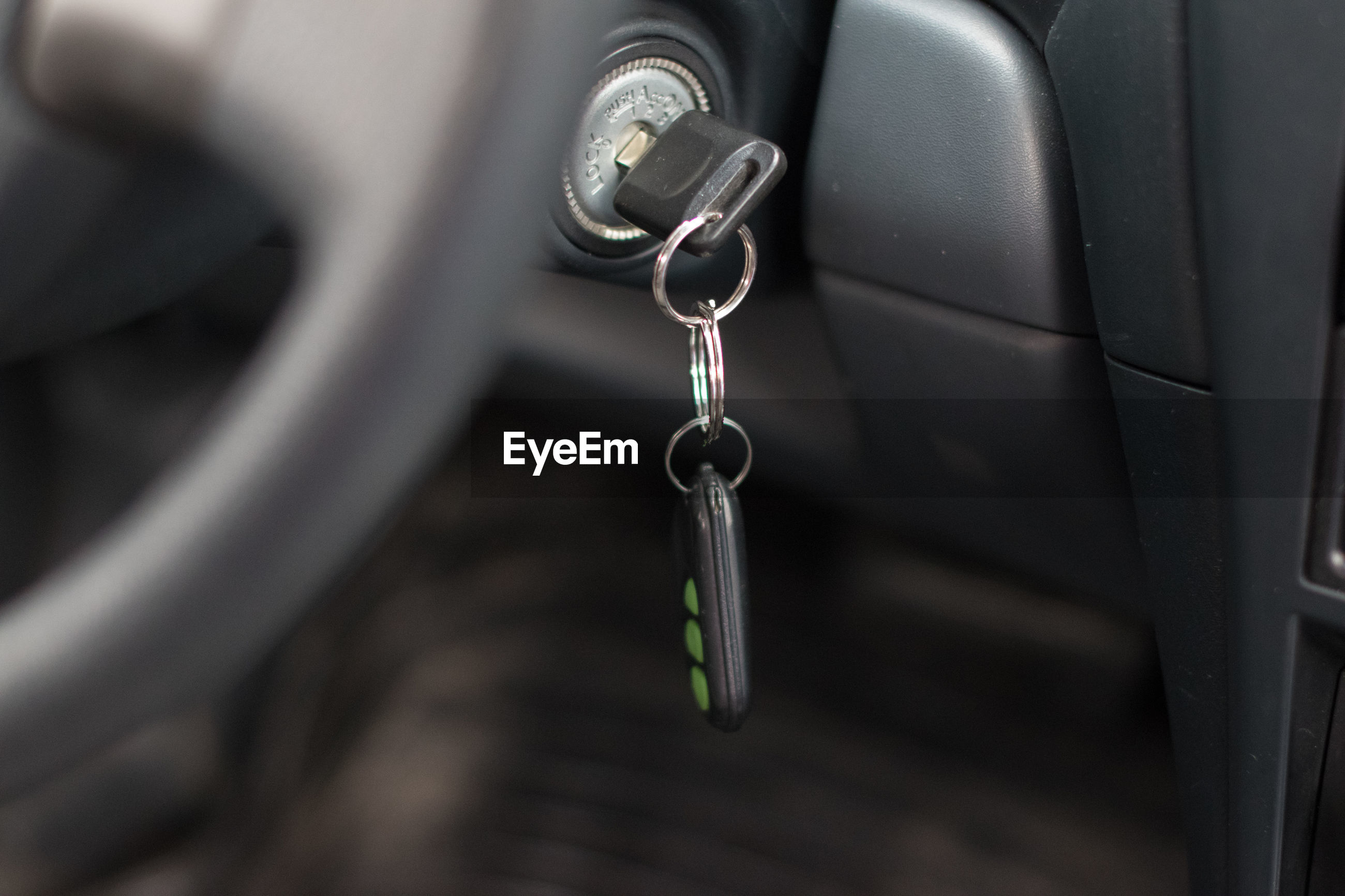 Close-up of car key
